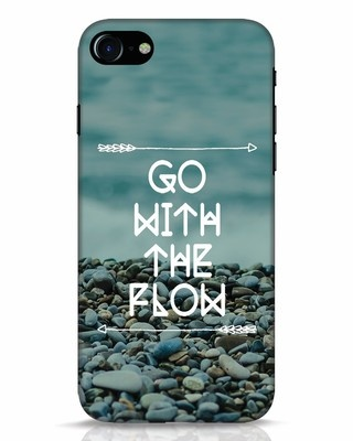 Shop Go With The Flow iPhone 7 Mobile Cover-Front