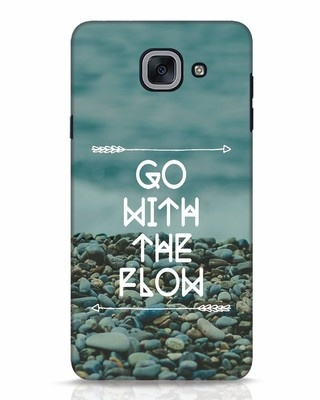 Shop Go With The Flow Samsung Galaxy J7 Max Mobile Cover-Front