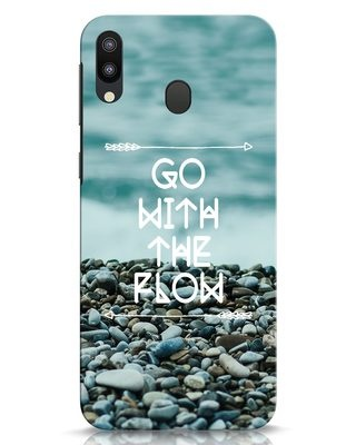 Shop Go With The Flow Samsung Galaxy M20 Mobile Cover-Front