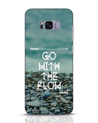 Shop Go With The Flow Samsung Galaxy S8 Plus Mobile Cover-Front