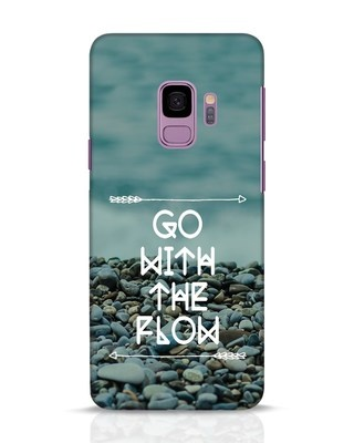 Shop Go With The Flow Samsung Galaxy S9 Mobile Cover-Front