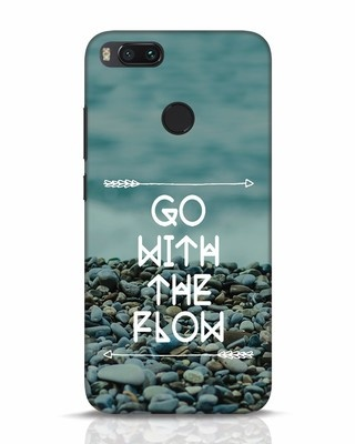 Shop Go With The Flow Xiaomi Mi A1 Mobile Cover-Front