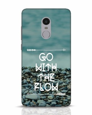 Shop Go With The Flow Xiaomi Redmi Note 4 Mobile Cover-Front
