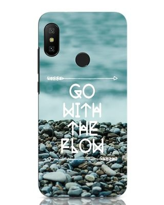 Shop Go With The Flow Xiaomi Redmi Note 6 Pro Mobile Cover-Front