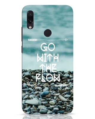 Shop Go With The Flow Xiaomi Redmi Note 7 Pro Mobile Cover-Front