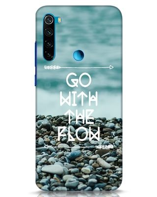 Shop Go With The Flow Xiaomi Redmi Note 8 Mobile Cover-Front