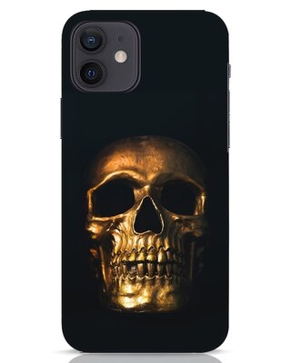 Shop Golden Skull iPhone 12 Mobile Cover-Front