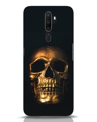 Shop Golden Skull Oppo A5 2020 Mobile Cover-Front