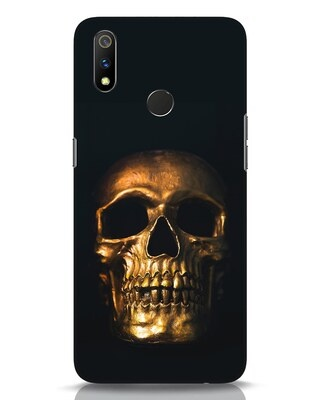 Shop Golden Skull Realme 3 Pro Mobile Cover-Front