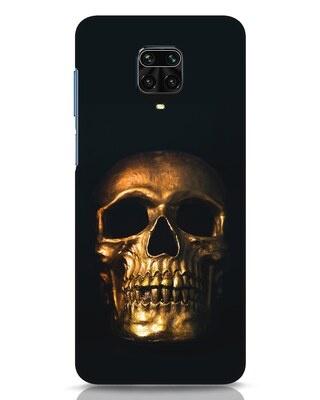 Shop Golden Skull Xiaomi Redmi Note 9 Pro Max Mobile Cover-Front