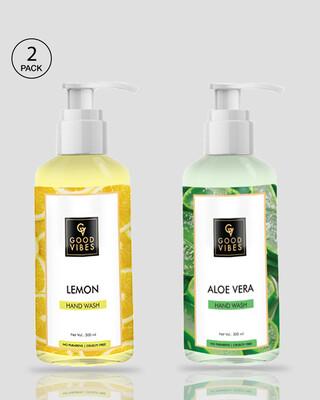 Shop Good Vibes Hand Wash - Lemon & Aloe Vera (300ml)-Front