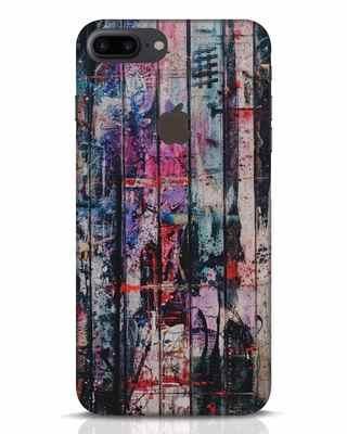 Shop Graffiti Texture iPhone 7 Plus Logo Cut Mobile Cover-Front
