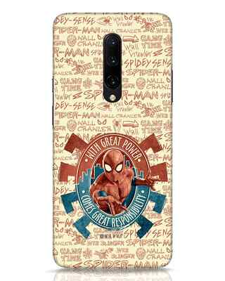 Shop Great Responsibility OnePlus 7 Pro Mobile Cover (AVL)-Front