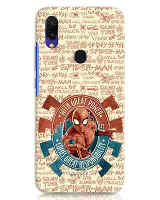 Shop Great Responsibility Xiaomi Redmi 7 Mobile Cover (AVL)-Front