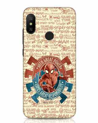 Shop Great Responsibility Xiaomi Redmi Note 6 Pro Mobile Cover (AVL)-Front