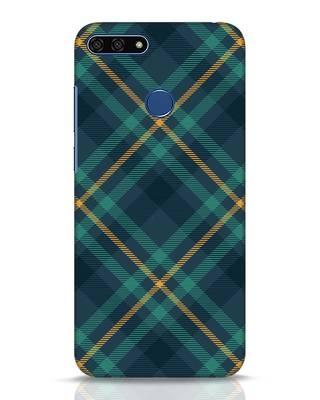 Shop Green Tartan Huawei Honor 7A Mobile Cover-Front