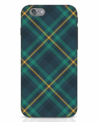 Shop Green Tartan iPhone 6 Mobile Cover-Front