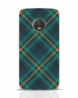Shop Green Tartan Moto G5 Plus Mobile Cover-Front