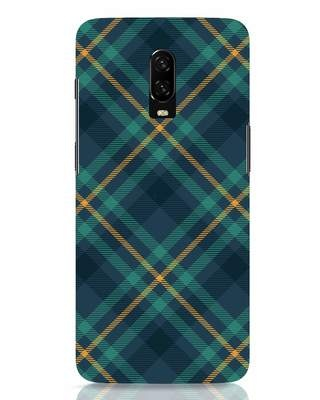 Shop Green Tartan OnePlus 6T Mobile Cover-Front