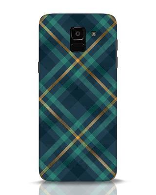 Shop Green Tartan Samsung Galaxy J6 Mobile Cover-Front