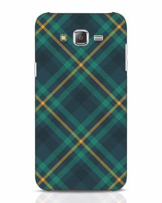 Shop Green Tartan Samsung Galaxy J7 Mobile Cover-Front