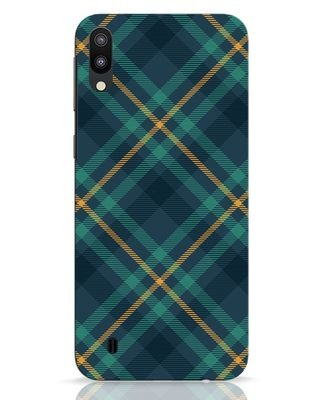 Shop Green Tartan Samsung Galaxy M10 Mobile Cover-Front
