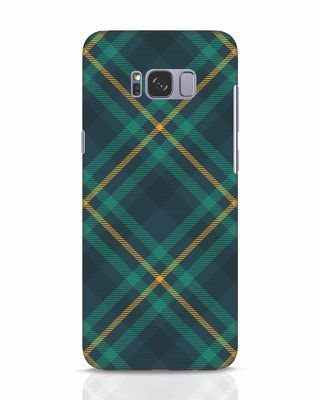 Shop Green Tartan Samsung Galaxy S8 Mobile Cover-Front