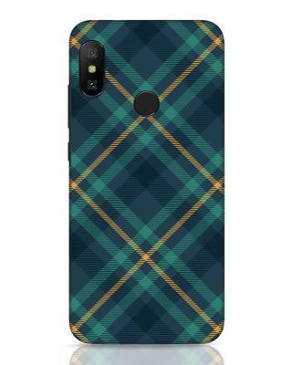 Shop Green Tartan Xiaomi Redmi 6 Pro Mobile Cover-Front