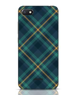Shop Green Tartan Xiaomi Redmi 6A Mobile Cover-Front