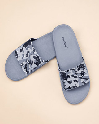 Shop Grey Camo Sliders-Front