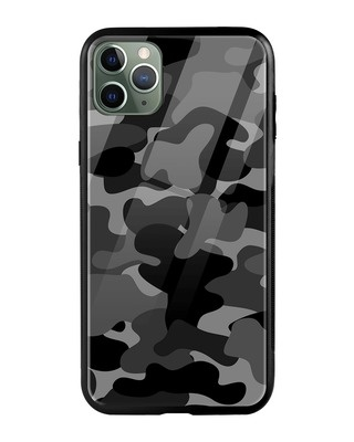 Shop Grey Camouflage iPhone 11 Pro Max Mobile Cover-Front