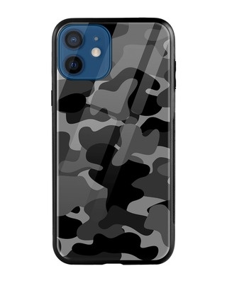 Shop Grey Camouflage iPhone 12 Mini Mobile Cover-Front