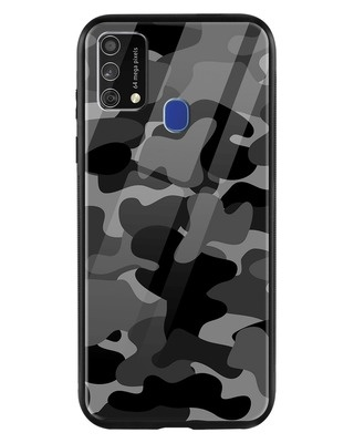 Shop Grey Camouflage Samsung Galaxy F41 Mobile Cover-Front