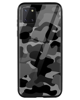 Shop Grey Camouflage Samsung Galaxy Note 10 Lite Mobile Cover-Front