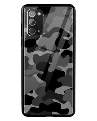 Shop Grey Camouflage Samsung Galaxy Note 20 Mobile Cover-Front