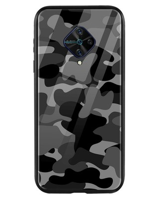 Shop Grey Camouflage Vivo S1 Pro Mobile Cover-Front