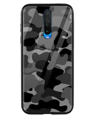 Shop Grey Camouflage Xiaomi Poco X2 Mobile Cover-Front