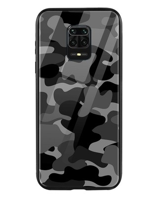 Shop Grey Camouflage Xiaomi Redmi Note 9 Pro Max Mobile Cover-Front