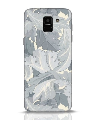 Shop Grey Floral Samsung Galaxy J6 Mobile Cover-Front