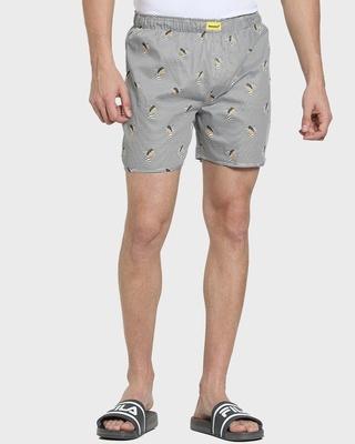Shop Grey Stripe Men Boxer-Front