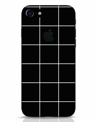 Shop Grid iPhone 7 Logo Cut Mobile Cover-Front