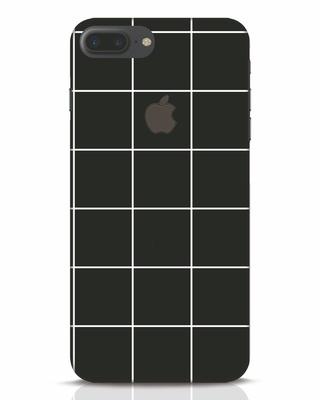 Shop Grid iPhone 7 Plus Logo Cut Mobile Cover-Front