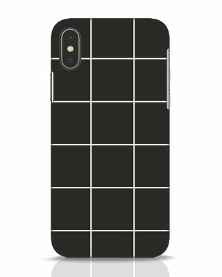 Shop Grid iPhone X Mobile Cover-Front
