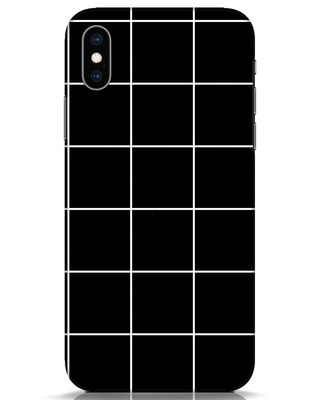 Shop Grid iPhone XS Mobile Cover-Front