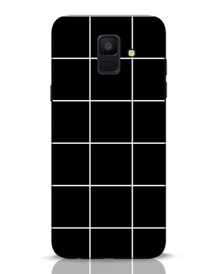 Shop Grid Samsung Galaxy A6 2018 Mobile Cover-Front