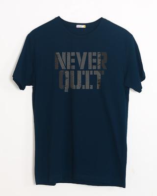 Buy Grunge Never Quit Half Sleeve T-Shirt Online India @ Bewakoof.com
