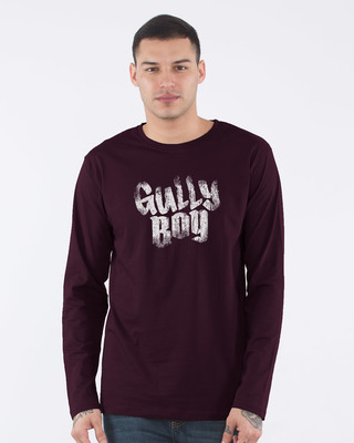 Shop Gully Boy Hip Hop Full Sleeve T-Shirt-Front
