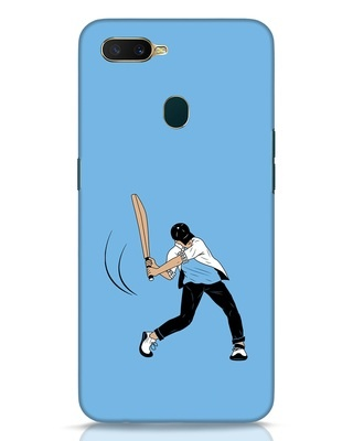 Shop Gully Cricket Oppo A7 Mobile Cover-Front