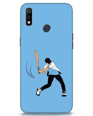 Shop Gully Cricket Realme 3i Mobile Cover-Front