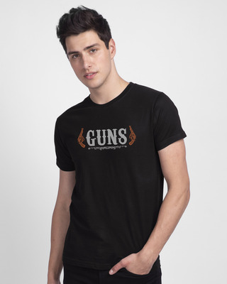 Shop Gun men Half Sleeve T-Shirt-Front